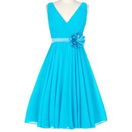 Mariage invité robe nouvelle mousseline sexy cou Une ligne turquoise champagne violet bleu royal bordeaux marine bleu vert demoiselle d'honneur robe stock court ? partir de fabricateur