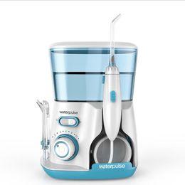 Irrigador bucal dental on-line-Irrigador Oral Água Flosser Flosser Dental Com 5 Jet Dicas e Caso Eletrônico Irrigador Dental Dentes Mais Limpo