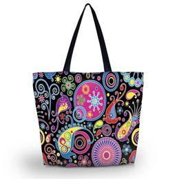 Bolso de compras grande y plegable bolso de hombro de la muchacha de las mujeres Bolso de la señora Cierre de la cremallera Bolsillo de compras Totalizador Playa ocasional # 251814 desde fabricantes