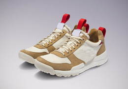 Scarpe sportive naturali online-Autentico Tom Sachs x Mars Yard 2.0 TS Uomo Donna Scarpe da corsa Natural Sport Red Maple 2017 Joint Sneakers a rilascio limitato AA2261-100