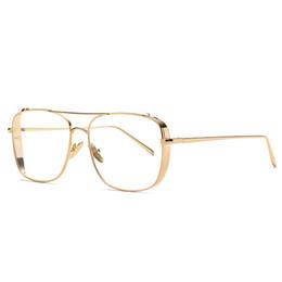 Cornici uniche di occhiali online-Montatura per occhiali in metallo Vintage Fashion HD con montatura in vetro