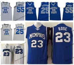 e27d0bd33d6 Hombres Memphis Tigers 23 Derrick Rose 25 Penny Hardaway 55 Lorenzen Wright College  Basketball Jerseys Vintage Memphis State Stitched Shirt