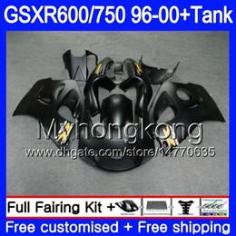 96 schwarze verkleidung online-Körper + Tank für SUZUKI Mattschwarz voll SRAD GSXR 750 600 GSXR600 96 97 98 99 00 291HM.8 GSXR-600 GSXR750 1996 1997 1998 1999 Verkleidungen