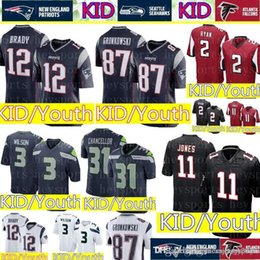 76ba11d91 Discount jersey patriots - New KID  12 Tom Brady Patriots Jersey Youth 11  Julio Jones