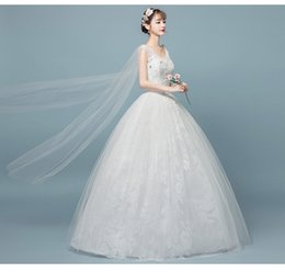 a391e00b95f Photo studio wedding dress 2018 new Qi dream F-neck large size slim bride  wedding wedding wholesale custom