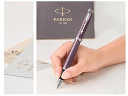 paralelos de escritorio Rebajas Moda 2019 top lapiceras de lujo Parker IM Lila Tinta Blanca Lápiz-Mingjian Lila 0.5mm Estándar Oficial