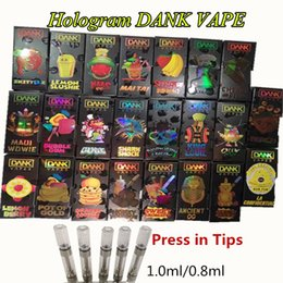 Dank Vapes M6T Holographic 510 Thread Ceramic Oologram 3D Flavor Package 0,8ml Cartucce di olio spesse Vape 1.0ml Vaporizzatore a penna Vape vuoto supplier oil cartridge ceramic da cartuccia di olio ceramica fornitori