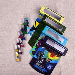 Синие танки онлайн-Новые Moonrock Clear Carts Vape Cartridges 0.8 мл 1.0 мл Бак Керамическая катушка Густой масляный распылитель Blue Moon Rock 510 Резьба Испаритель Пакет At211