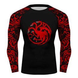 t shirt game throne Coupons - Custom Game of Throne House Targaryen compression shirt long sleeve rashguar men Fitness tops t-shirt boy men's T
