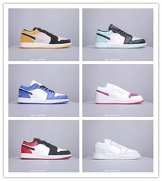 zapatos deportivos de moda Rebajas 2019 Venta Caliente Jumpman 1 I Low OG Negro Rojo Azul Zapatos de Baloncesto Para Hombres de Moda de Las Mujeres de Calidad Superior Atlético Deportes Zapatillas de deporte Tamaño 40-46