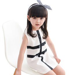 Canada Summer Girls Clothing Marque Mignon Noir Blanc Patchwork Kid Filles Dress 1-4 Ans Enfants Bébé Fille Dress Infant Clothes cheap infant girl black dress Offre