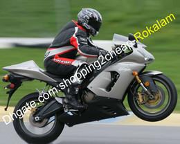 2019 carenagens de corrida kawasaki zx6r Motos Kawasaki ZX6R 636 2005 2006 ZX6R ZX 6R 05 06 Prata Preto Corrida carenagem Kit (Injecção) carenagens de corrida kawasaki zx6r barato