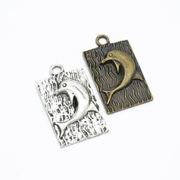 120pcs Tibetan Silver Little dolphin Charms Pendants Crafts Making 7*10mm