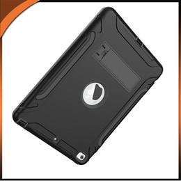 ipad haut-parleur Promotion 3 en 1 Defender Heavy Duty Full-Body Caoutchouc de Silicone Doux Antichoc Coque Rigide pour PC Cover Pour iPad mini 4