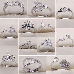 Inci Yüzükler Ayarları Kelebek Zirkon Katı 925 Gümüş Yüzük Ayarları Yüzük Kadınlar için Montaj Yüzük Ayarlanabilir Boş DIY Takı Hediye nereden