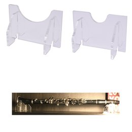 Instrumentos de rack on-line-Rack de Suporte de Exibição de Mesa Horizontal para Flauta Oboe Clarinete Sax Piccolo Wind Instrumento (Transparente)