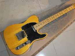 2019 mejor guitarra hueca 2019 Nueva llegada Custom Shop Vintage Diapasón Clavijas de afinación Basswood Body Guitarra eléctrica Chrome Hardware