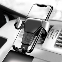 billige telefonzubehör großhandel Rabatt Autotelefonhalterung für das Telefon im Auto Halterung für Lüftungsschlitze Armaturenbretthalterung Handyhalterung Universal Gravity Smartphone Cell Support