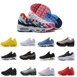 best sneakers 4ed2d 3dec6 Nike air max 95 airmax 95 2018 95 Nouveaux Hommes Femmes Classique Noir  Rouge Blanc Sport Trainer Coussin De Surface Respirant Sport Sneakers  Chaussures De ...