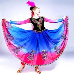 2019 costumi swing Festival Outfit2019 New Ladies Dance Costumes Costumi Uygur da donna Grande Swing Skirt Ricamo Minoranza Danza sconti costumi swing