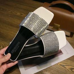filles pantoufles Promotion Xllcwc zapatos mujer 2019 Été Élégant Nouveau chaussures de plage femmes pantoufles cristal appartements mode diapositives antidérapantes tongs filles