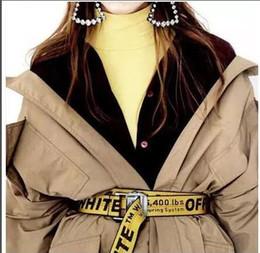 19ss INDUSTRIAL Paris gelb Gürtel weiß drucken Männer Frauen Kostüme Cosplay Gürtel Leinwand bestickt Herren Gürtel 301 von Fabrikanten
