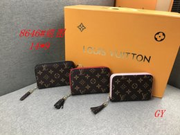 Pelle soletta portafogli online-Pelle della frizione delle donne di moda mini BYLV Portafoglio ragazza delle signore Holder casuale sacchetto della carta solido con zip della borsa della moneta