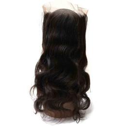 Cuerpo de malasia cierre frontal de onda online-El mejor Frontal de encaje de Malasia con el pelo del bebé Onda del cuerpo 100% Virgin Real Cabello humano Dyeable Barato Recto 360 Cierre frontal completo de encaje