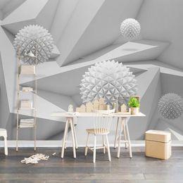 Круглая стенная панно онлайн-Пользовательские Росписи Papel Де Parede 3D Абстрактный Космический Круг Мяч Гостиная Столовая ТВ Фон Фото Обои Стены Home Decor