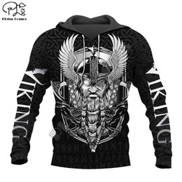 free skull tattoos Coupons - PLstar Cosmos Viking Warrior Tattoo New Fashion Tracksuit casual 3DfullPrint Hoodie Sweatshirt Jacket Mens Womens style-2 T200103
