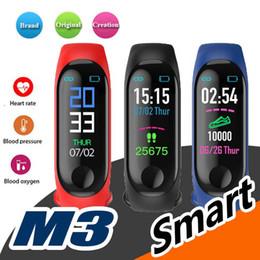 Deutschland Neue M3 0,96 Farbe Bildschirm Smart Uhr Herzfrequenz-Überwachungsinformationen drücken Bluetooth Band Armband Anruferinnerung Sportuhr DHL Versorgung