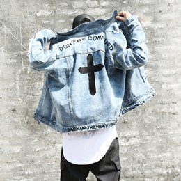 2019 мужские кросс-джинсы Осень Вышивка Крестом Джинсовая Куртка Хлопковое Пальто Мужское Черное Пальто Мужская Бомбардировщик Ma1 Куртка США Размер S-XL дешево мужские кросс-джинсы