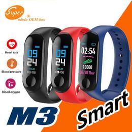 M3 Smart Watch Bracciale Tracker fitness con frequenza cardiaca Orologi Bluetooth Tecnologia indossabile MI 3 Orologio XIAOMI APPLE con scatola al dettaglio da xiaomi mi box fornitori
