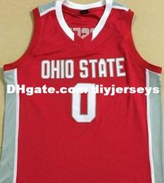 Personnalisé pas cher # 0 D'Angelo Russell État ohio maillot de basketball brodé sur mesure Personnalisé tout numéro et nom D Angelo ? partir de fabricateur