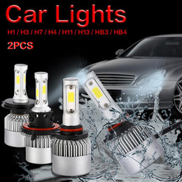 2019 hb4 led scheinwerfer Super helle 2PCS S2 Auto LED Scheinwerfer Birnen PFEILER H1 H3 H4 H7 H11 H13 9005 / HB3 9006 / HB4 8000LM 6500K DC 9-32V führten Autokopflampen günstig hb4 led scheinwerfer