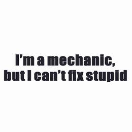 ll аксессуары Скидка Я Механик, Но Я Не Буду Исправлять Интересные Двери Автомобиля Бампер Стикер Автомобиля Упаковка Аксессуары Личности