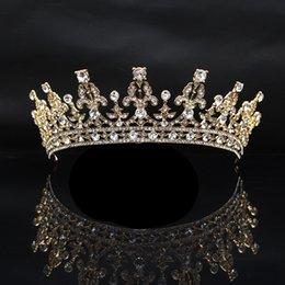 бриллиантовая корона диадемы невесты Скидка аксессуары для волос для женщин тиара короны заколки для волос европейская версия невесты барокко сплав алмаз корона тиара феникс свадебное платье