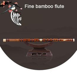 Chave de flautas de bambu d on-line-dom de alta qualidade flauta de bambu profissionais de sopros Flautas Instrumentos musicais C D E G Key Chinese dizi Transversal Flauta Crianças