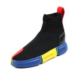 2019 nuevo de alta calidad Sock-Like hombres botas cortas deportivas zapatos casuales para hombres Slip On Tide Hip Hop zapatos para estudiantes desde fabricantes