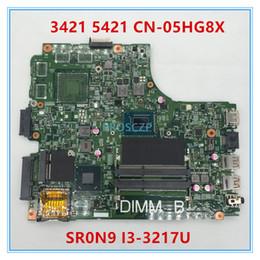 Portátil gb online-Envío libre madre del ordenador portátil CN-05HG8X 05HG8X 3421 5421 PWB: 5JBY4 REV: A00 SR0N9 I3-3217U DDR3L 100% probado completamente