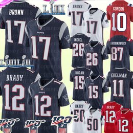 Tom jersey online-17 Antonio Brown New Englan Patriots 12 Tom Brady Jersey 87 Rob Gronkowski 11 Julian Edelman 50 N'Keal Harry Sony Michel Michel Gordon Jersey