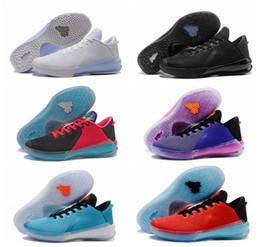new product 78d72 a8213 Top-Qualität Kobe Schwarz Mamba Venom 6 VI Basketball-Schuhe Schwarz Weiß  Grau Blau Rot Herren Low-Top Sneakers Tennis Outdoor-Sportschuhe 40-45