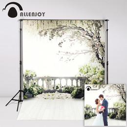 2019 jardim de fundo de fotos Hoto Studio Fundos Allenjoy 300x200cm (6.5ftx10ft) Flores Photo Background árvores jardim sotão cenários de fotografia de casamento ... desconto jardim de fundo de fotos