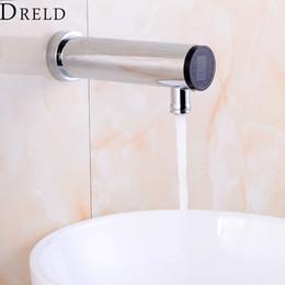 Sensore a parete online-Rubinetto sensore automatico bagno Senso rubinetto mano Touchless Sensor rubinetto dell'acqua calda fredda del miscelatore d'ottone fissato al muro