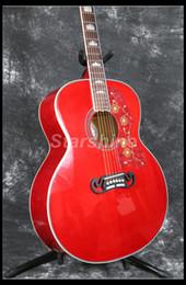 guitare électrique oem st Promotion Guitare acoustique électrique Starshine ZZF-J200R Jumbo 43, table en épicéa massif, érable flammé au dos, Bone Nut, Grover Tuner Fishman 101