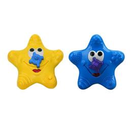 Stella marina di plastica online-Baby Bath Toys Bella Starfish di plastica Forma Water Spray per Baby Shower Nuoto Giocattoli Regalo per bambini