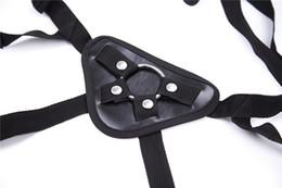 Ceinture de gode lesbienne en Ligne-Ruban noir chaud sur le gode Harnais, ceinture Strapon réglable sur le pantalon Harness pour lesbiennes avec de faux jouets sexuels Gode