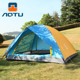 tenda da campeggio auto Sconti 2persons doppio strato doppio sportello da campeggio per famiglie tenda da viaggio impermeabile 200 * 150 * 120 cm leggero facile da trasportare picnic