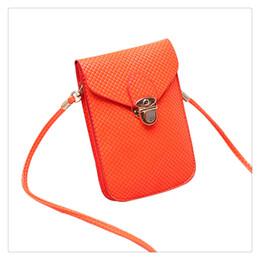 Bolso tejido de moda para mujer Satchel Mini bolso de cuero de la PU Bolsos pequeños del teléfono celular de Crossbody Multi color para ocasional desde fabricantes