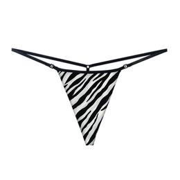 Bikini dénudé en Ligne-Thong Strip G-string Panties pour femmes Haute élasticité Femme Bikini Slip taille basse à deux côtés à l'arrière A19052-2